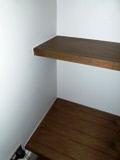 chunky walnut shelves