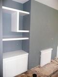 glossy shelves